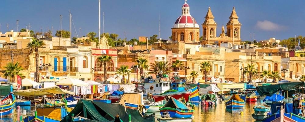 The picturesque fishing village of Marsaxlokk